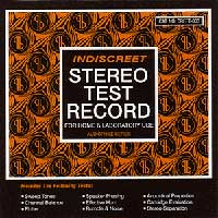 Indiscreet Stereo Test Record compilation CD on Discreet/Indiscreet (1995)
