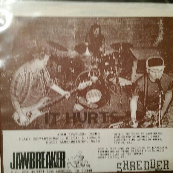 "Jawbreaker - Busy / Equalized 7"" green vinyl back cover it hurts"