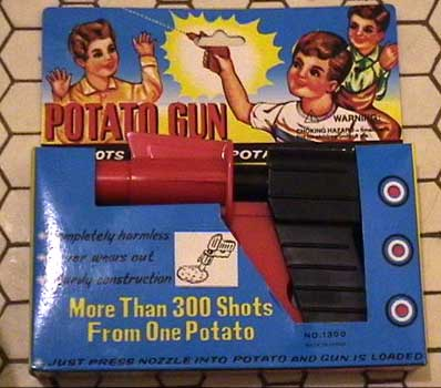 Potato Gun - more than 300 shots from one potato!